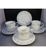 Haviland Lot 7 Forever Spring - Pattern 3 Cups & 4 Saucers Silver Edge V... - $7.92