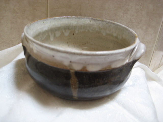 Vintage Stoneware Art Pottery Bowl- Signed by artist