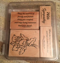 "Stampin' Up ~2002 ""Loving Memories"" 4 Stamps Set Sympathy Retired  - $19.80"