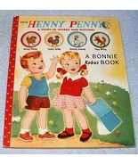 1953 Rebus Bonnie Book Henny Penny Story in Words and Pictures - $9.95