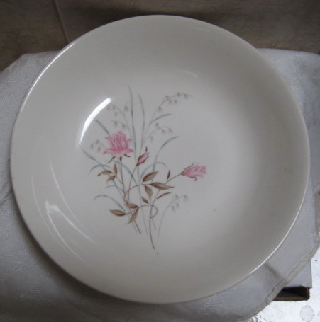 Vintage Shabby Chic Pink Floral Bowl