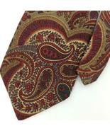 VINTAGE INNOCENTI TOM JAMES US ART NOUVEAU BRICK RED Silk Necktie I3-54 ... - $15.83