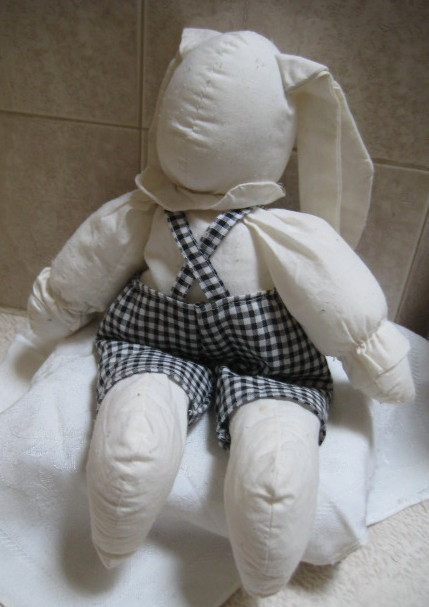 Vintage Stuffed Cloth Rabbit Toy