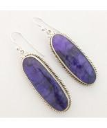 Kanika Jewelry Trove Sapphire Gemstone 925 Sterling Silver Long Earrings - $36.99