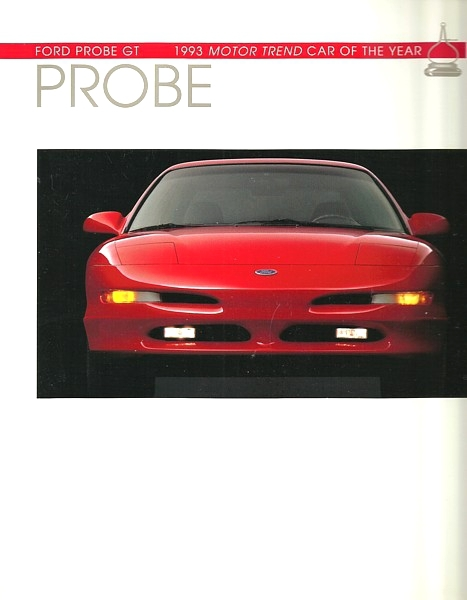 1993 Ford PROBE brochure catalog 2nd Edition 93 US GT V6 COTY