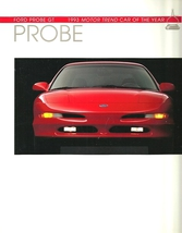 1993 Ford PROBE brochure catalog 2nd Edition 93 US GT V6 COTY - $8.00