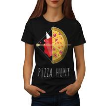 Pizza Hunt Arrow Hot Food Shirt  Women T-shirt - $12.99