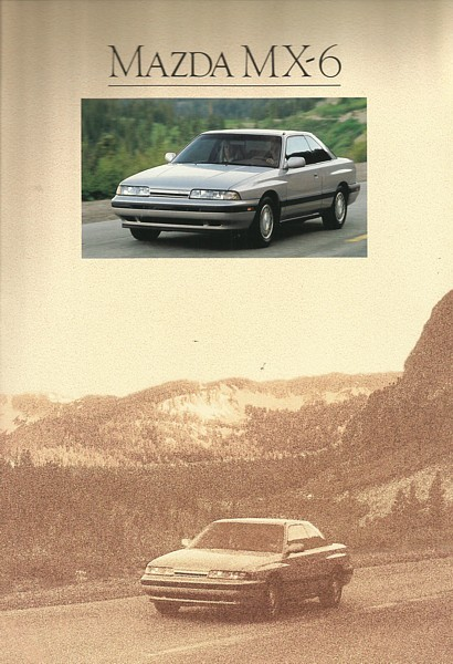 Primary image for 1990 Mazda MX-6 sales brochure catalog US 90 DX LX GT 4WS
