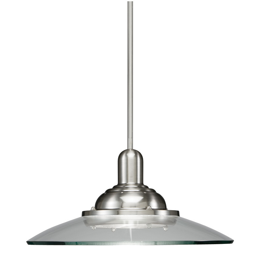 allen roth lighting allen roth galileo 18 5 in w brushed nickel pendant 30525