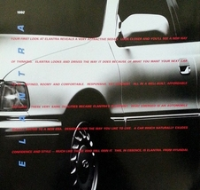 1992 Hyundai ELANTRA sales brochure catalog US 92 GLS - $6.00