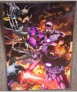 Marvel X-Men vs The Sentinel Glossy Print 11 x 17 In Hard Plastic Sleeve - $24.99