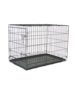 """Black 48"""" 2 Door Pet Cage Folding Dog Cat Crate Cage Kennel w/ABS Tray - $69.99"""