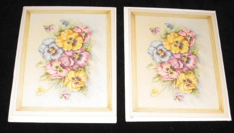 Two Vintage Note Cards