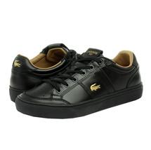 Lacoste Men's Casual Courtline 120 1 US CMA Athletic Shoes Leather Black Sneaker image 2