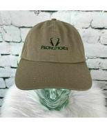 Prong Horn Mens One Sz Hat Brown Adjustable Imperial Baseball Cap 100% C... - $11.88