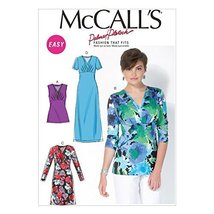 McCall Pattern Company M7092 Misses' Tops and Dresses, Size B5 - $14.21