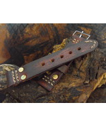 24mm pilot watch strap, military ammo strap, boutique leather straps - $23.81