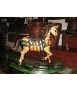 Rocking horse,hand painted and carved,cedarwood  - $182.00
