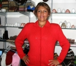 Red cardigan with ziper, Alpacawool,all sizes in stock  - $84.00