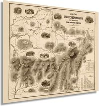 1858 Map of White Mountains New Hampshire Poster - Vintage Map NH Wall Art - Vin - $34.99+