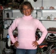 Pink turtleneck,Sweater made of pure Alpacawool  - $74.00