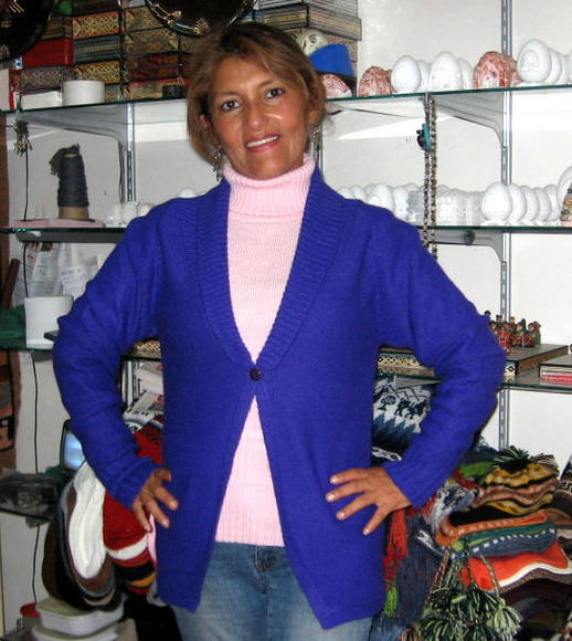 Cardigan and sweater combination made of Alpaca wool