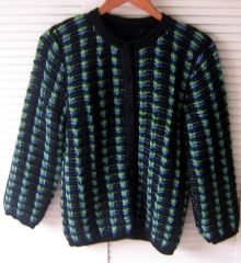 Douple knitted Cardigan, Jacket made of Alpacawool