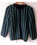 Douple knitted Cardigan, Jacket made of Alpacawool - $115.00
