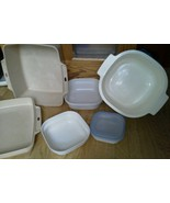 Set of 7 Microwave Cookware Littonware Rubberma... - $49.49