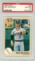 1983 Fleer Rick Burleson #80 PSA 10 P823 - $24.11