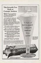 Colgate Rapid Shave Scientific Beaker Carnegie Test 1922 Ad - $9.99