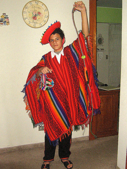 Folkloric ethnic dance costume from Peru, Valicha
