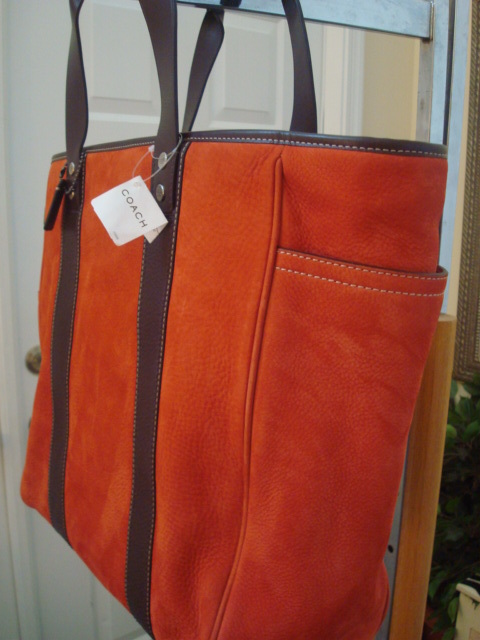 COACH TOTE BAG BRAND NEW WITH TAGS IN BURNT DEEP ORANGE