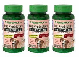DIGESTIVE AID PROBIOTICS 250 MILLION CULTURES PETS DOGS CATS 180 CHEWABL... - $25.49