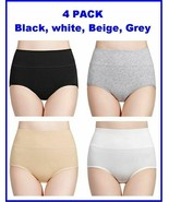 Wirarpa Women's High Waisted Cotton Underwear Soft Full Briefs Panties 4... - $19.77