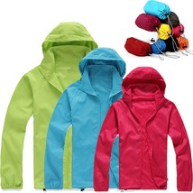 Unisex UV Protection Quick Dry Cycling Long Sleeve Windbreaker Hoodie Co... - $48.76