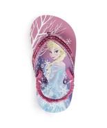 NWT Disney Frozen Baby/Toddler Flip Flops 5/6 Small Elsa and Anna Heel S... - $2.99