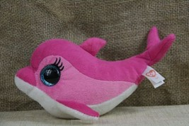 0fc1a190e93 TY Beanie Baby Beanie Boo  39 s Surf The Pink Dolphin With Glitter Eyes