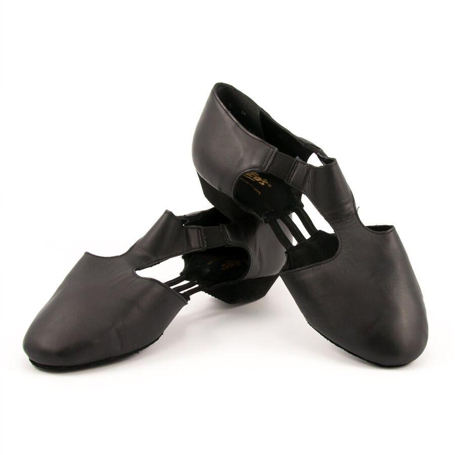 Leo's 7208 Adult Size 5.5M Black Amore Jazz Sandals