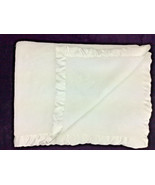Simply Shabby Chic Baby Blanket Solid WHite Satin Trim 30x40 - $154.62