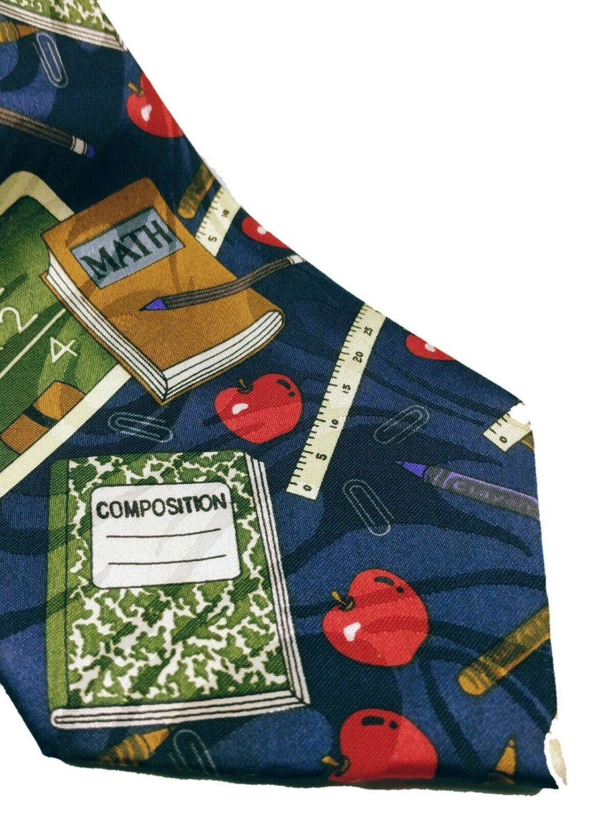 Fratello Men's School Days Teacher Math Ruler Composition Necktie Novelty image 4