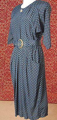 POSITIVE INFLUENCE VTG 90s black teacher church short sleeve dress 12 (TC2-01D7G