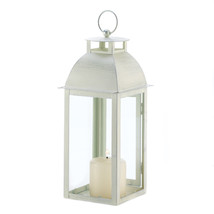 Distressed Ivory Candle Lantern 10001047 - $26.79