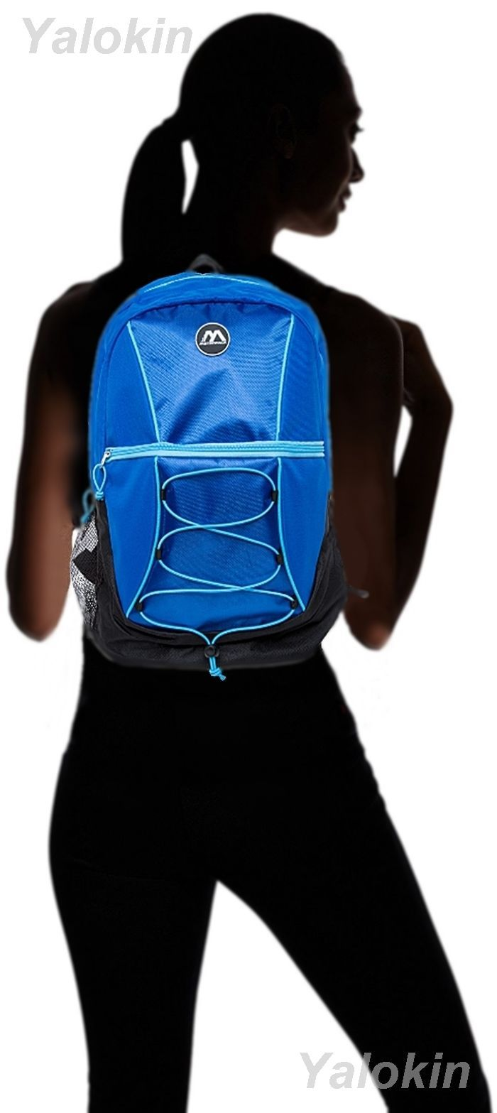 NEW Black and Blue Ripcord Lightweight Fashion Backpack Shoulder Book Bag