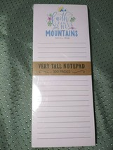 """Very Tall Notepad 100 Pages """"Faith Can Move Mountains - Matthew 17:20"""" - $13.49"""