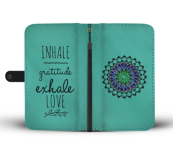Mandala Wallet Phone Case iPhone Samsung Inhale Exhale Yoga Gift Her Bes... - $24.95