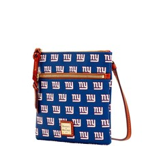DOONEY & BOURKE NEW YORK GIANTS DOUBLE ZIP CROSSBODY HANDBAG NWT - $70.13