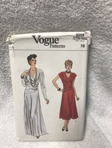 Vogue 9259 Misses Evening Dress Vintage Sewing Pattern - $19.79