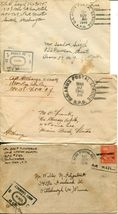 US Army Airmail WWII APO Navy Military Cover Examined Postage Collection  image 3