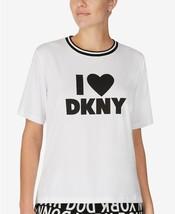 $44 DKNY Ringer Pajama T-Shirt, Color: White & Black, Size: Medium - $29.99